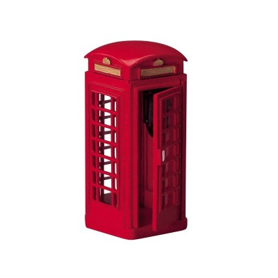Lemax Figurines  Telephone Booth # 44176 Polyresin New 2018 Cabine téléphonique style Angleterre