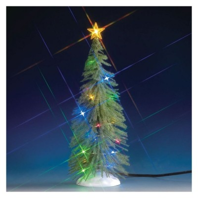 Lemax New 74265 Chasing Multi Light Spruce Tree LArge 10 inches 2020