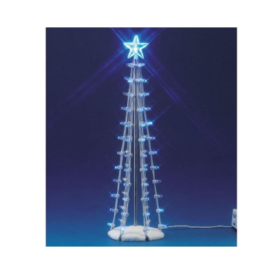 Lemax Arbre de Noel Illuminée en Bleu avec Étoile Village 74657 Lighted Silhouette Tree Blue 9 in 2020