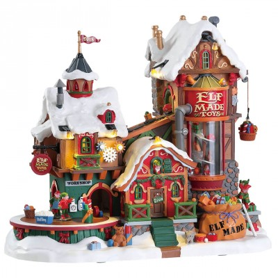 New House Lemax 75190 Elf Made Toy Factory 2021