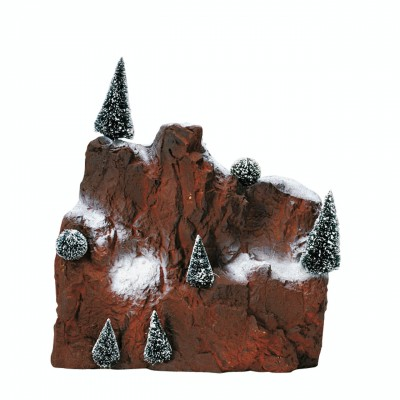 Montagne De Fond Avec 7  SApins Rocher Neige  Lemax 81013 Small Village Mountain Backdrop 2021