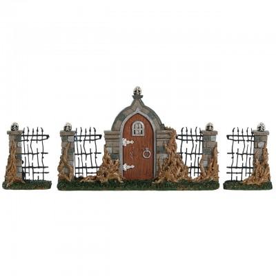 Lemax Porte Grille D'Entrée Cimétière En Ronce Spooky Town 84343 Bramble Gate Halloween Polyresin 2021