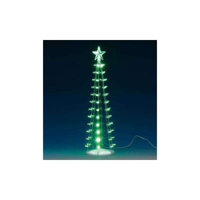 Lemax Arbre de Noel Illuminée en VErt avec Étoile Village 84399 Lighted Silhouette Tree Green 9 in 2020